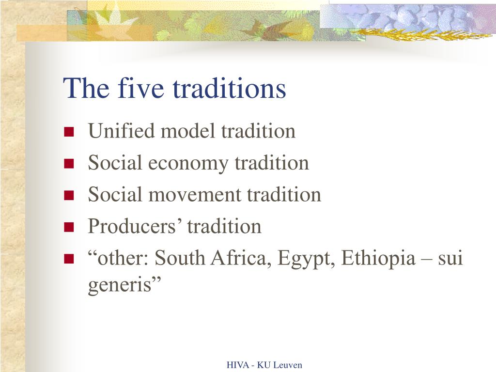 The five traditions