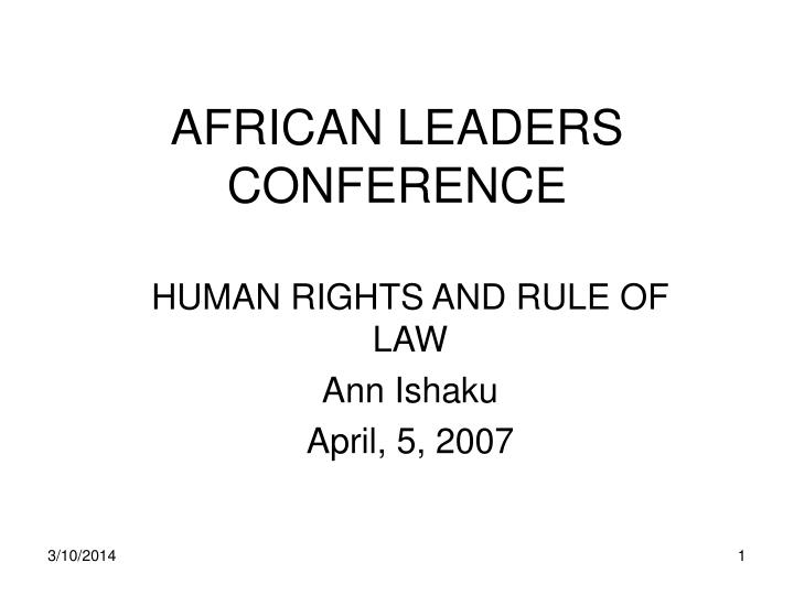 African leaders conference