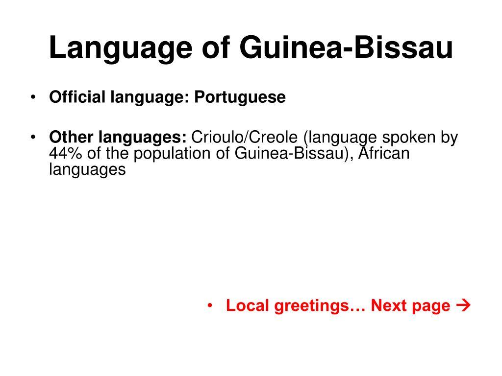 Language of Guinea-Bissau