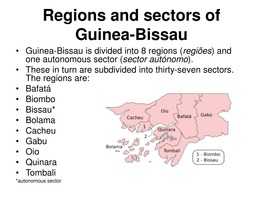 Regions and sectors of Guinea-Bissau