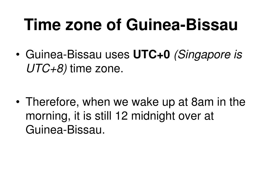 Time zone of Guinea-Bissau