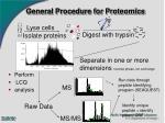 general procedure for proteomics