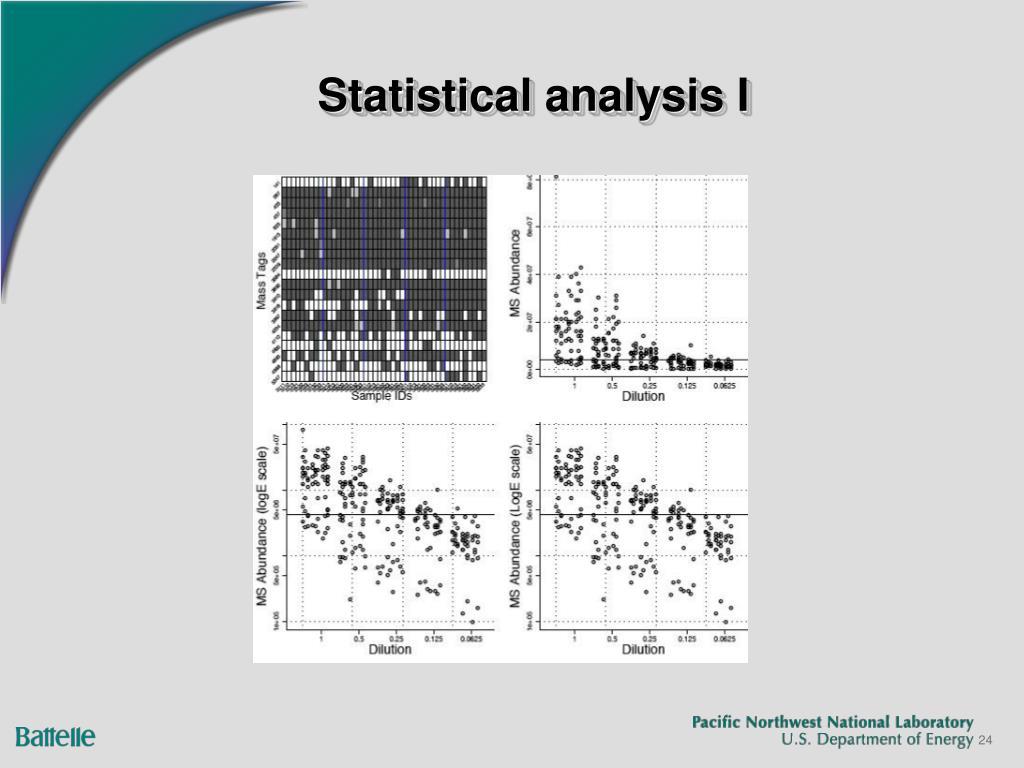 Statistical analysis I