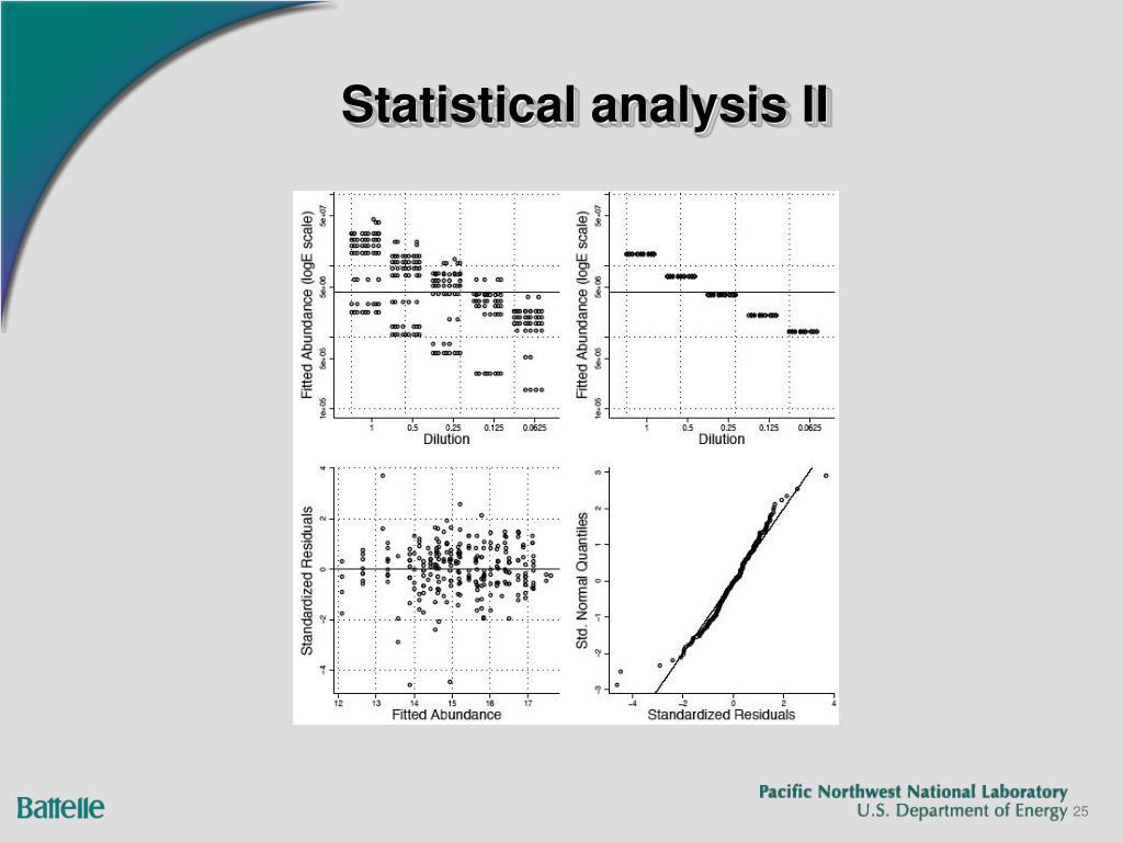 Statistical analysis II
