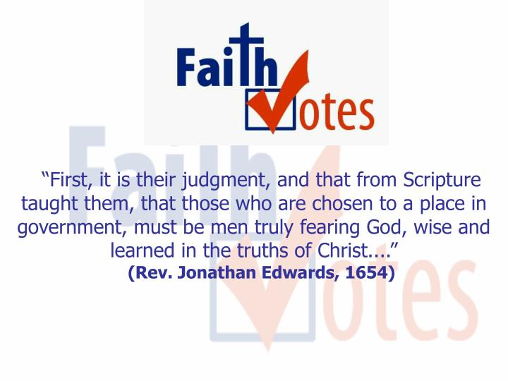 """First, it is their judgment, and that from Scripture taught them, that those who are chosen to a ..."
