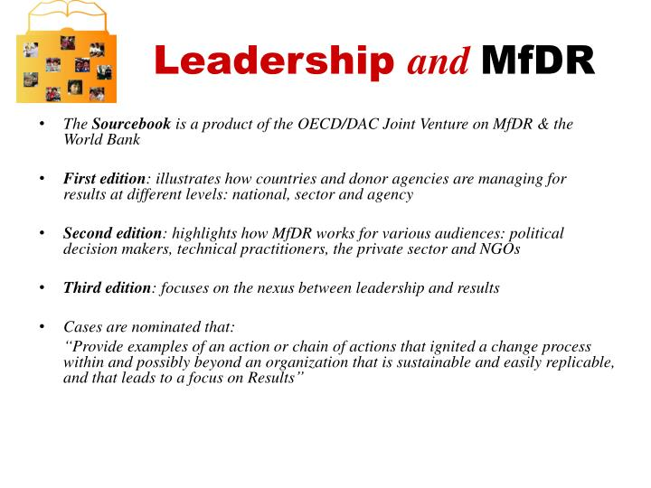 Leadership and mfdr