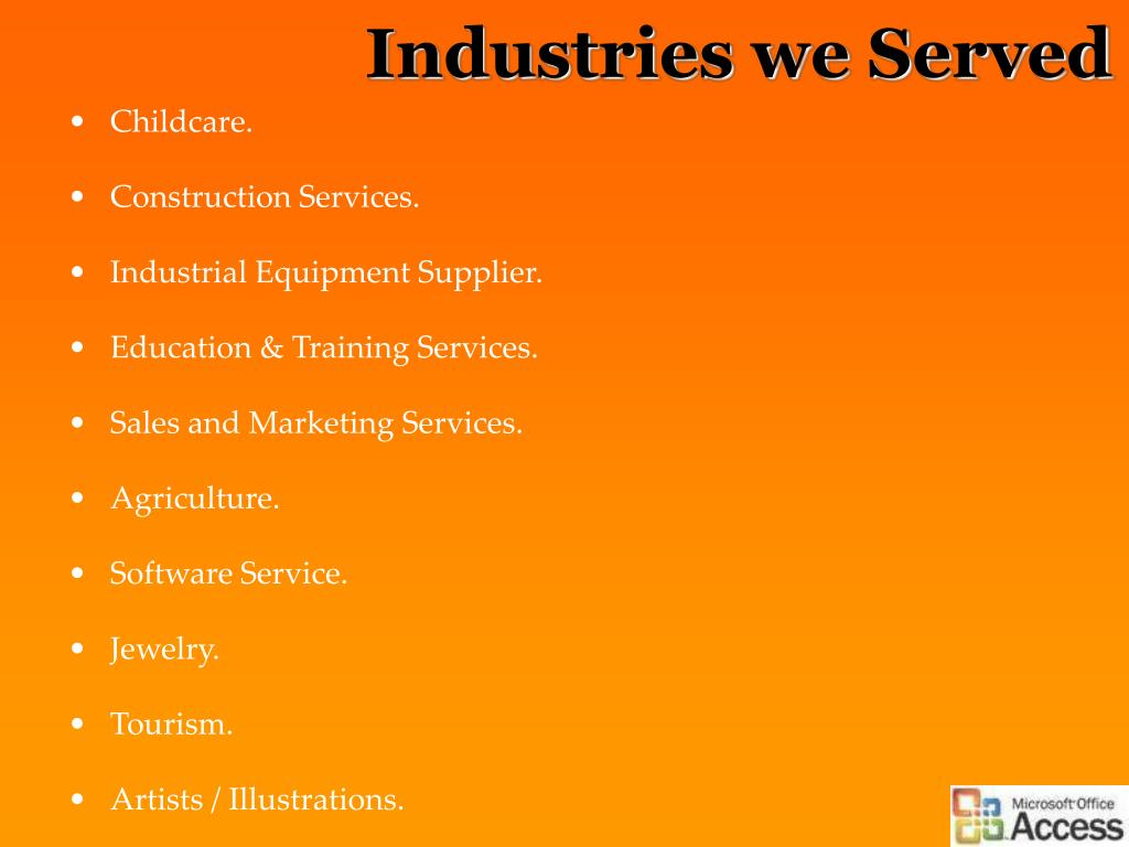 Industries we Served
