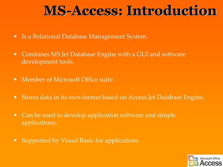 Ms access introduction