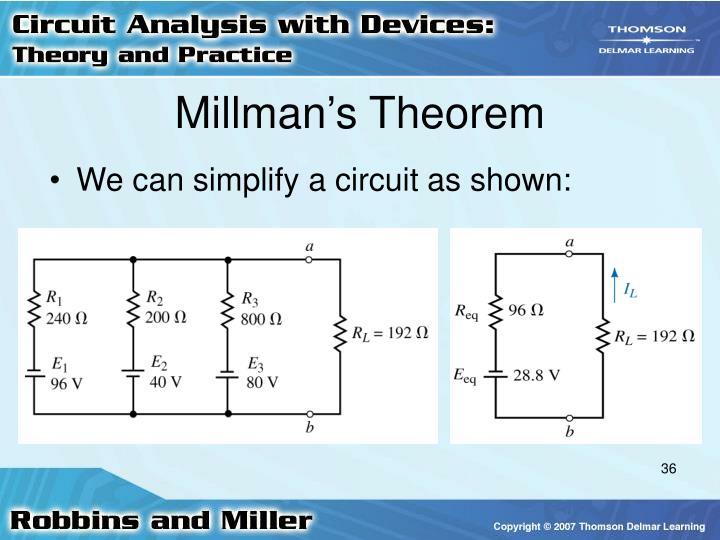 Millman's Theorem