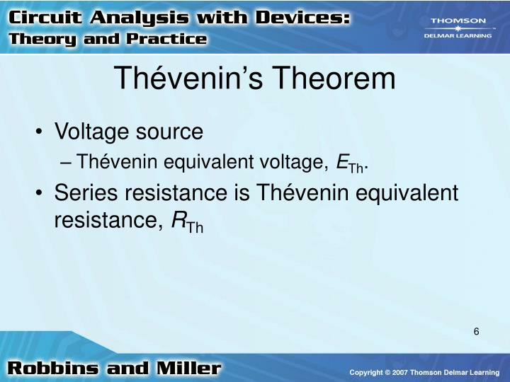Thévenin's Theorem