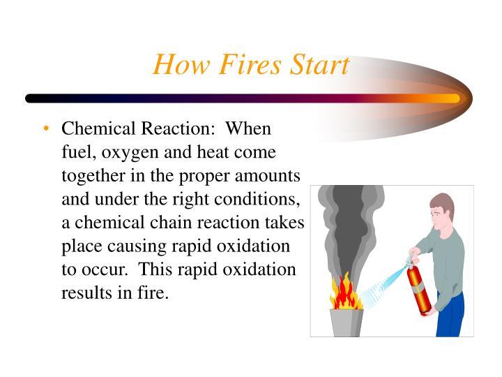 How Fires Start