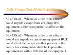 self propelled mobile equipment