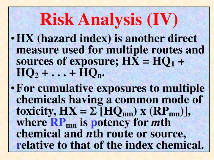 Risk Analysis (IV)