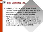 fox systems inc4
