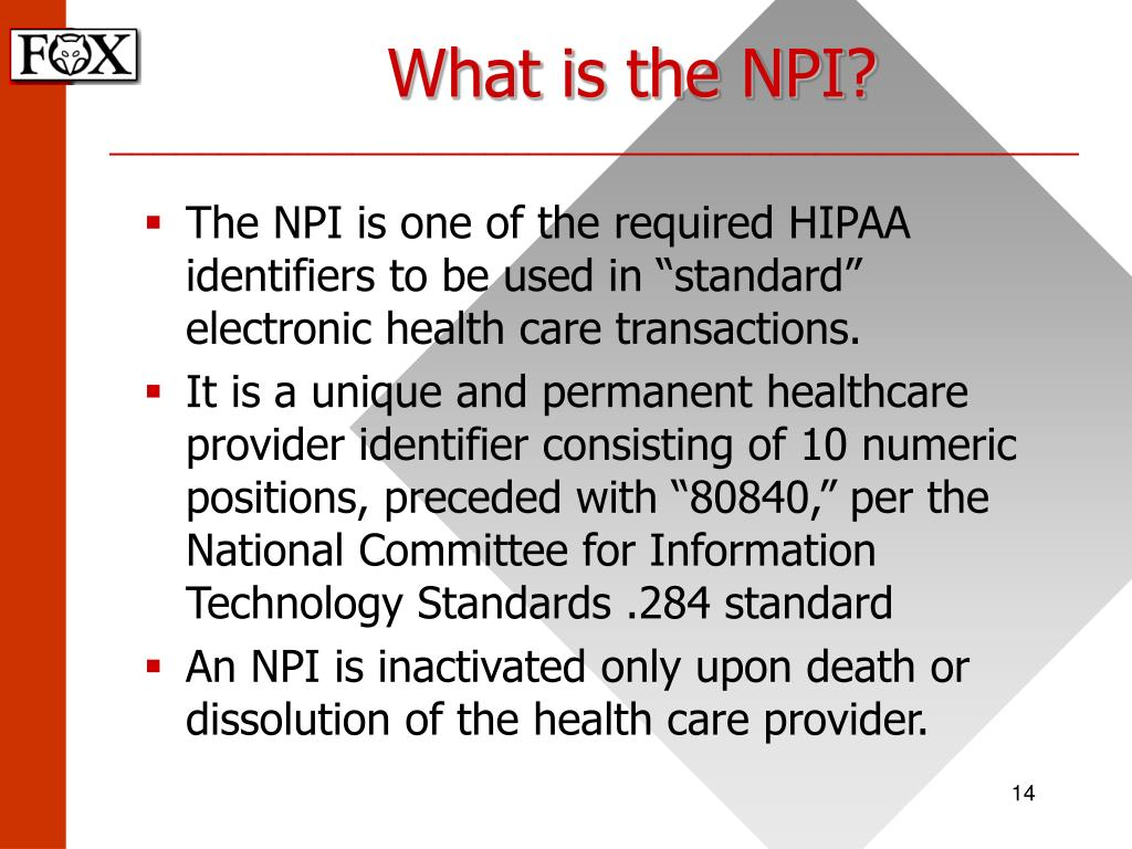 What is the NPI?