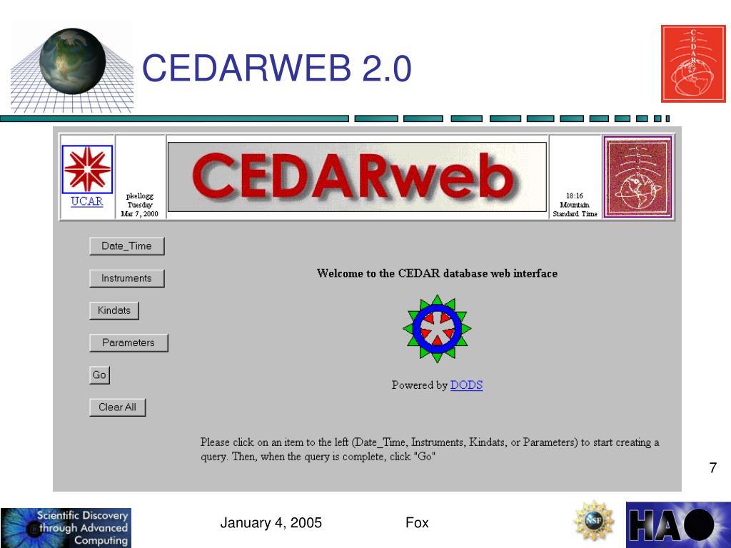 CEDARWEB 2.0