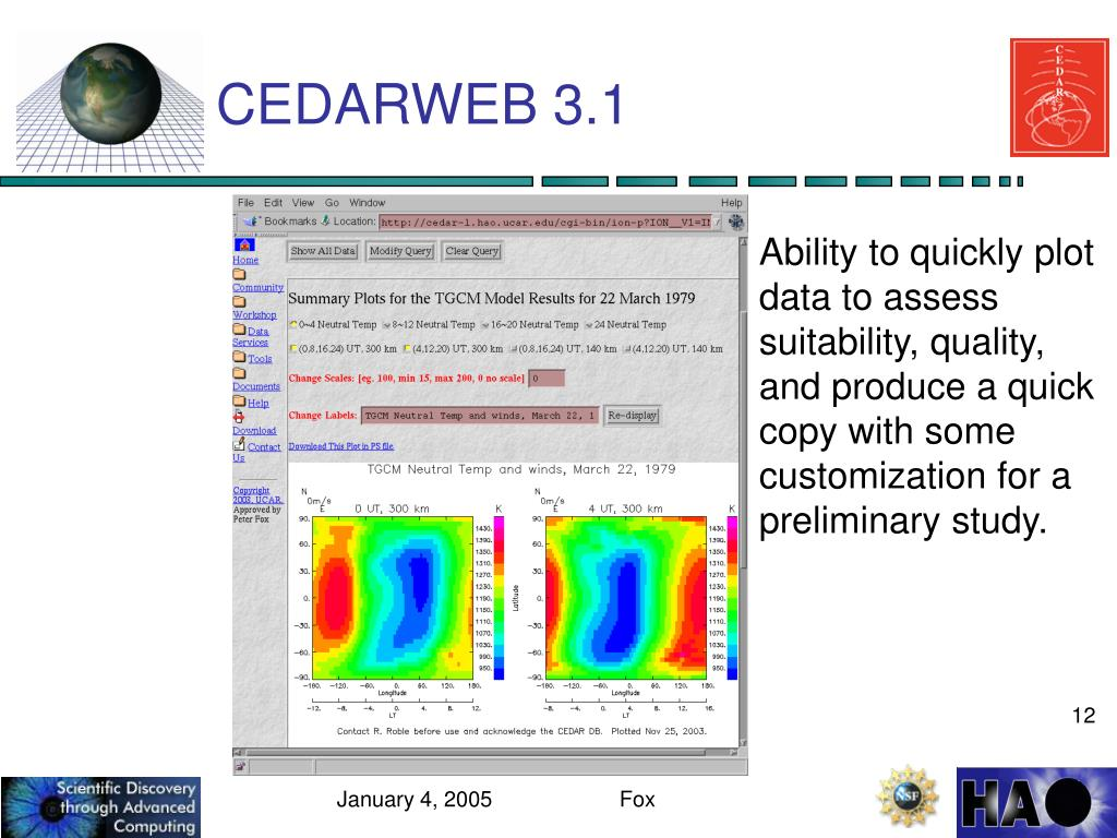 CEDARWEB 3.1