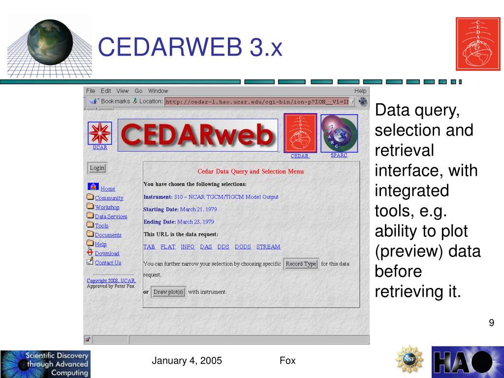 CEDARWEB 3.x