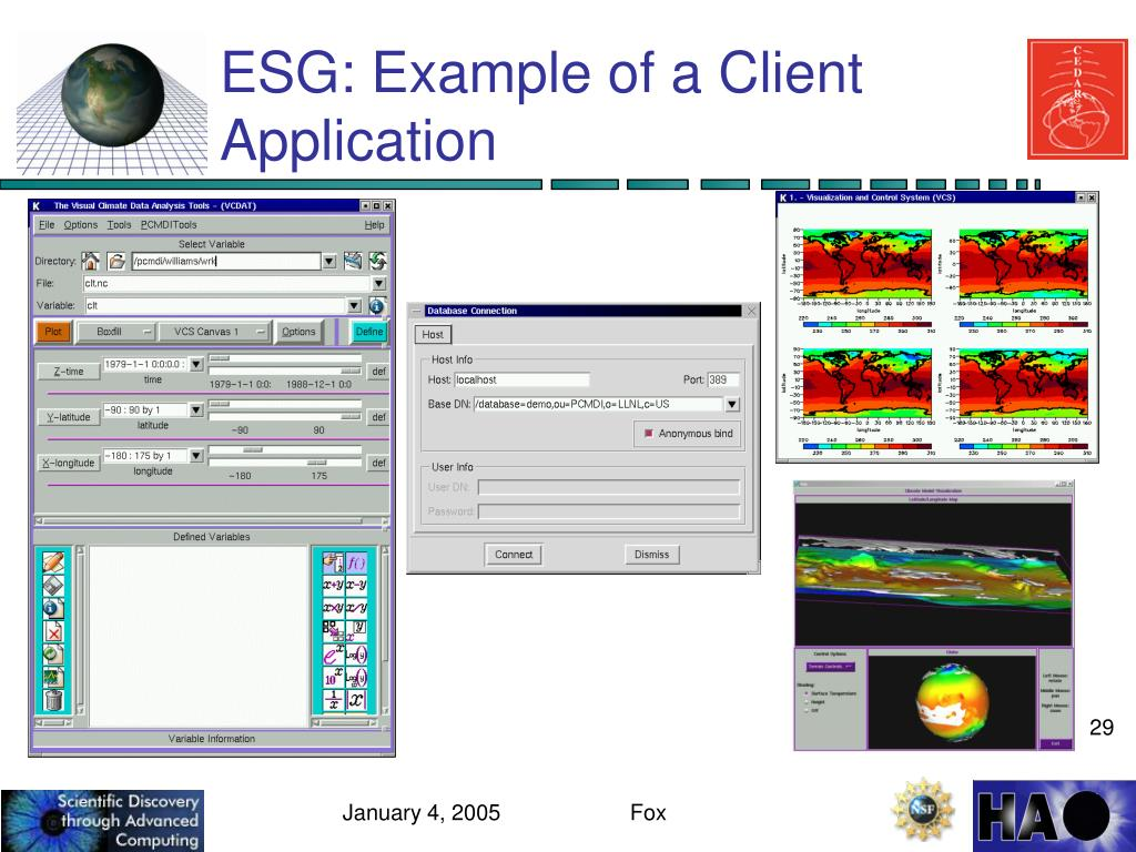ESG: Example of a Client Application