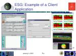 esg example of a client application