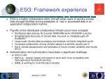 esg framework experience
