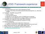 esg framework experience41