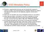 esg metadata policy