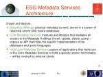 esg metadata services architecture