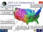 esg u s collaborations development