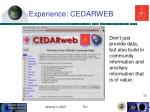 experience cedarweb
