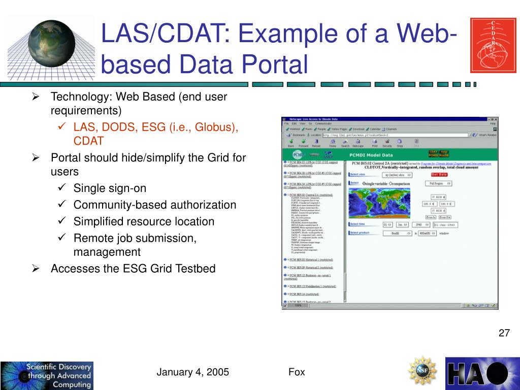LAS/CDAT: Example of a Web-based Data Portal