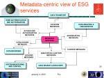 metadata centric view of esg services