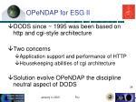 opendap for esg ii