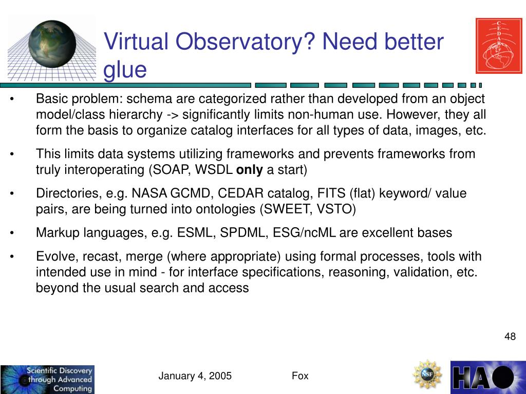 Virtual Observatory? Need better glue