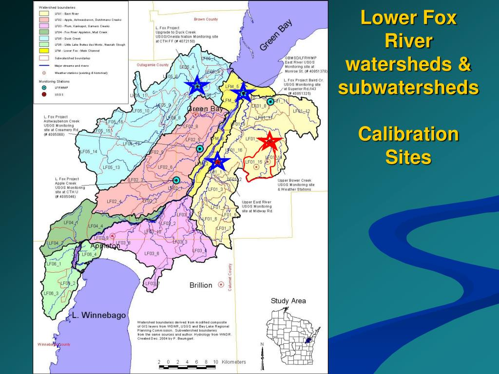 Lower Fox River watersheds & subwatersheds