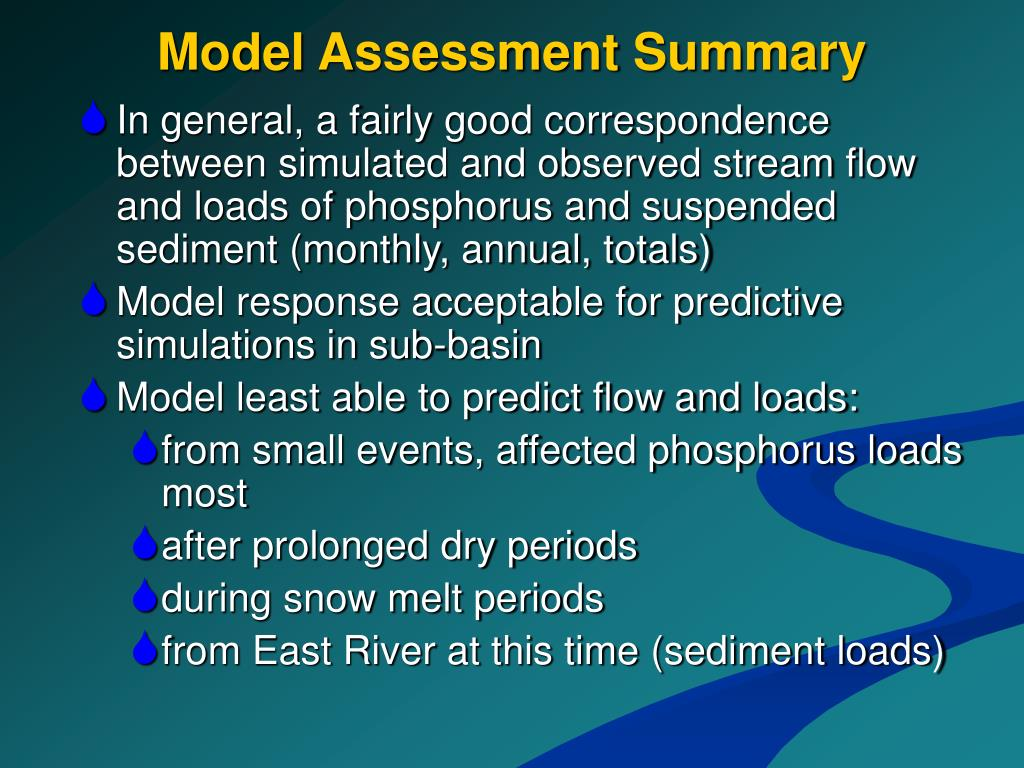 Model Assessment Summary