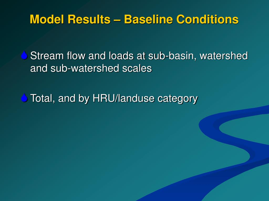 Model Results – Baseline Conditions