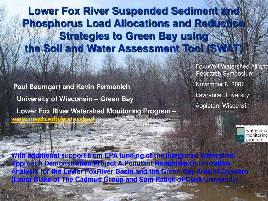 Lower Fox River Suspended Sediment and Phosphorus Load Allocations and Reduction Strategies to Green Bay using