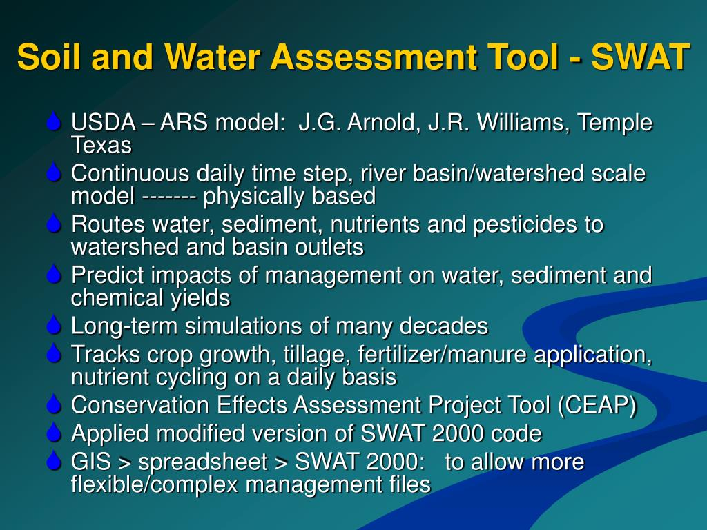 Soil and Water Assessment Tool - SWAT
