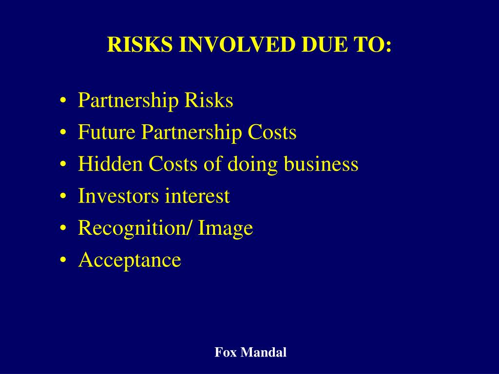 Partnership Risks