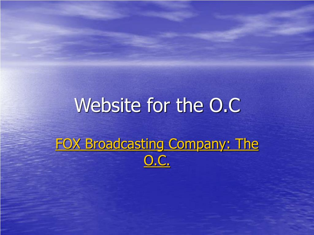 Website for the O.C