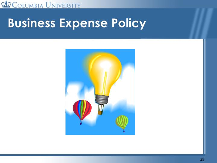 Business Expense Policy