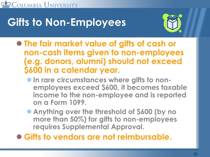 Gifts to Non-Employees