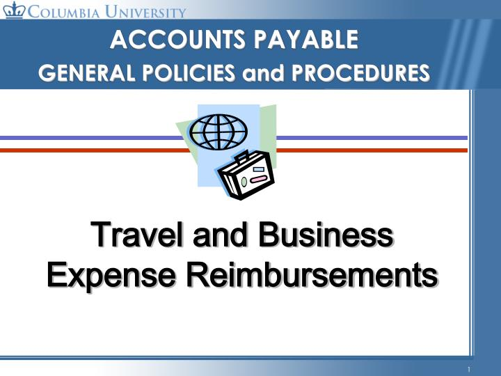 Travel and business expense reimbursements