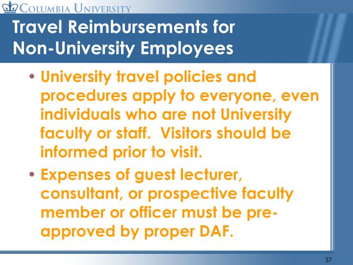 Travel Reimbursements for