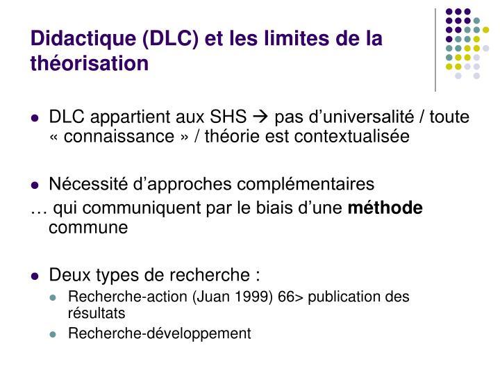 Didactique (DLC) et les limites de la théorisation