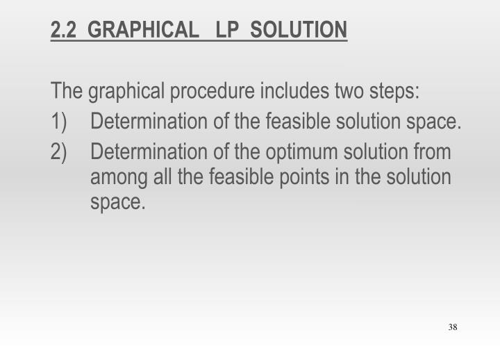 2.2  GRAPHICAL   LP  SOLUTION