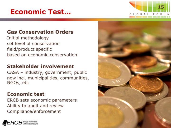Economic Test…