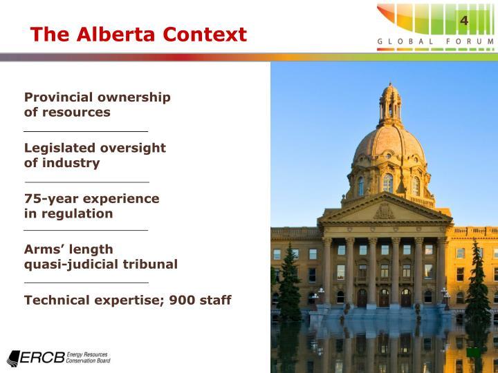 The Alberta Context
