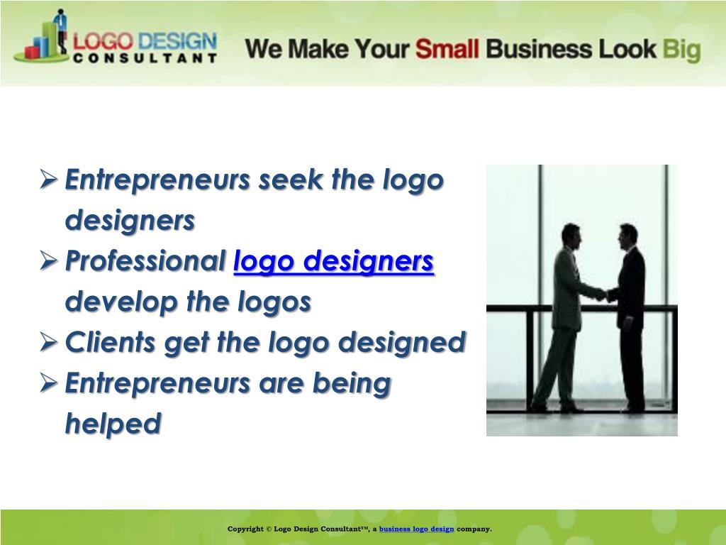 Entrepreneurs seek the logo